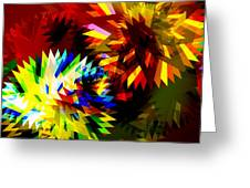 Colorful Blade Greeting Card