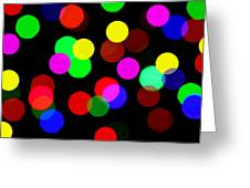 Colorful Bokeh Greeting Card