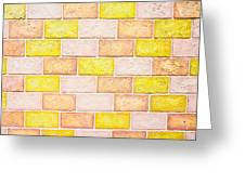 Colorful Brick Wall Greeting Card