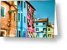Colorful Burano Greeting Card