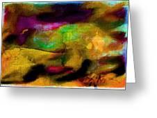 Colorful Burlap Greeting Card