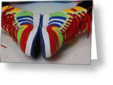 Colorful Clown Shoes Greeting Card