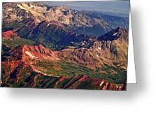 Colorful Colorado Rocky Mountains Planet Art Greeting Card