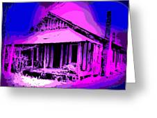 Colorful Cracker House Greeting Card