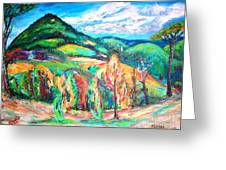 Colorful Europe  Greeting Card by Mary Sedici