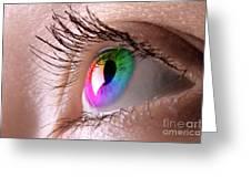 Colorful Eye Greeting Card