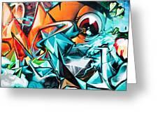Colorful Graffiti Fragment Greeting Card