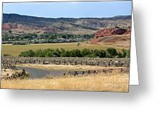Colorful Hills Of Wyoming Greeting Card