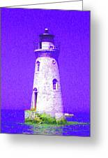 Colorful Lighthouse Greeting Card by Juliana  Blessington