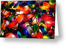 Colorful Lit Water Bottles Greeting Card
