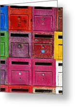 Colorful Mailboxes Greeting Card