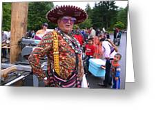 Colorful Man Of The Festival Greeting Card