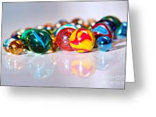 Colorful Marbles Greeting Card by Carlos Caetano