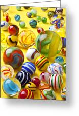 Colorful Marbles Two Greeting Card