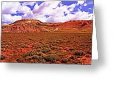 Colorful Mesas At Fossil Butte Nm Butte Greeting Card