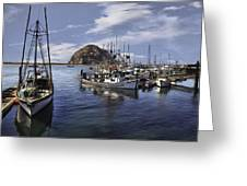 Colorful Morro Harbor Greeting Card