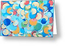 Colorful Partial Eclipses Greeting Card
