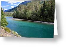 Colorful Skagit River Greeting Card