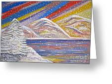 Colorful Snow Greeting Card