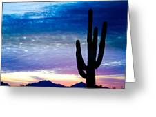 Colorful Southwest Desert Sunrise Greeting Card