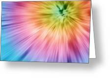 Colorful Starburst Tie Dye  Greeting Card