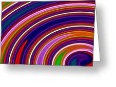 Colorful Swirls Greeting Card