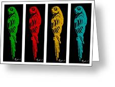 Colorful Tropical Parrot Abstract Parrot Ink Sketch Digital And Original Art By Madart Greeting Card