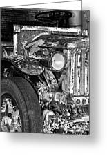 Colorful Vintage Car In Black And White Greeting Card