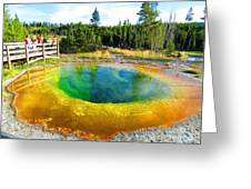 Colorful Yellowstone Greeting Card
