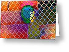Colors Hiding Behind Fence Greeting Card