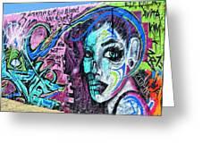 Colors Of Graffiti Greeting Card