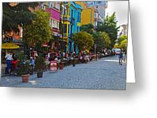 Colors Of Istanbul Street Life Greeting Card