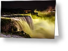 Colors Of Niagra Falls Greeting Card