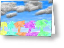 Colors Of The Palms Greeting Card