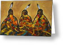 Colors Of Three Greeting Card