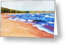 Colors Of Water Greeting Card