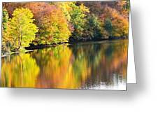 Colorwash On The Pond Greeting Card