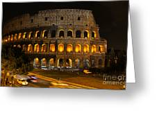 Colosseum By Night Greeting Card by Chris Hill