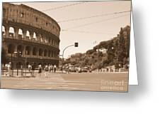 Colosseum In Sepia Greeting Card