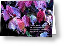 Colour Is Fun Greeting Card