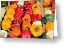 Colourful Peppers Greeting Card