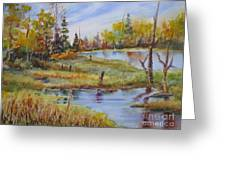 colours Of Elk Island Greeting Card
