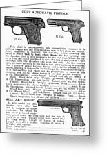Colt Automatic Pistols Greeting Card