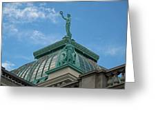 Columbia Atop Memorial Hall Greeting Card