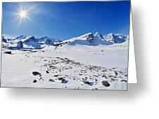 Columbia Icefield In Winter, Jasper Greeting Card