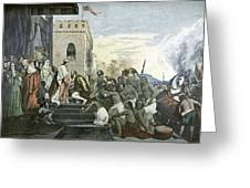 Columbus' Return From The Americas Greeting Card