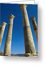 Column In Capitol In Ancient Roman City Greeting Card