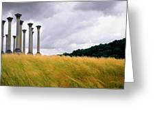 Columns 2 Greeting Card
