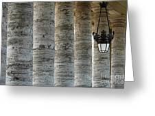 Columns And Hanging Lamp Greeting Card