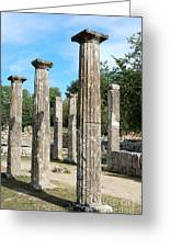 Columns At Olympia Greece Greeting Card by Eva Kaufman
